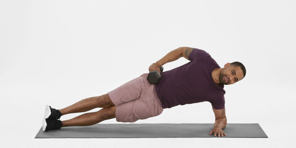 side plank love handle exercise for men