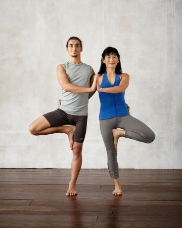 Double Tree Yoga Poses for two people